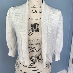 TWENTY-ONE white knit shrug small